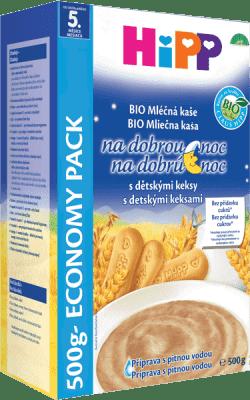 HIPP BIO Na dobrou noc s dětskými keksy (500 g) - mléčno-obilná kaše