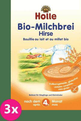 3x HOLLE Bio Pšenová mliečna kaša, 250 g