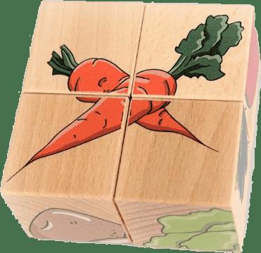 PILCH Skladačka - zelenina, 4 kocky