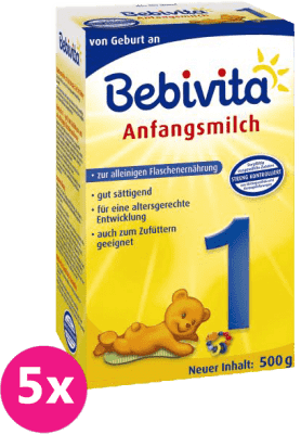 5x BEBIVITA 1 (500g) - kojenecké mléko