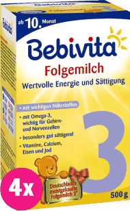 4x BEBIVITA 3 (500g) - kojenecké mléko