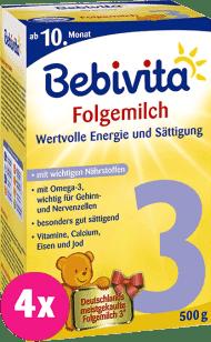 4x BEBIVITA 3 (500g) - dojčenské mlieko