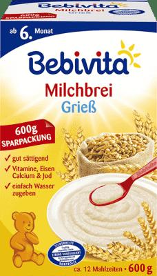 BEBIVITA Krupicová (600 g) - mliečna kaša