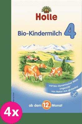 4x HOLLE Bio batoľacia mliečna dojčenská výživa 4 (600g)