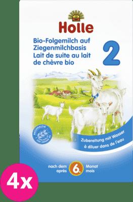 4x HOLLE Bio dojčenská mliečna výživa na báze kozieho mlieka 2, 400 g