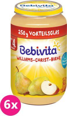 6x BEBIVITA Hrušky William Christ (250 g) – ovocný příkrm
