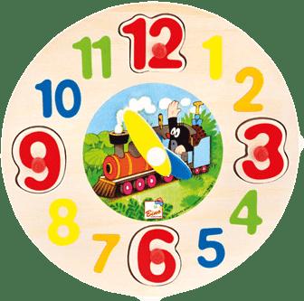 BINO Drevené hodiny - Krtko