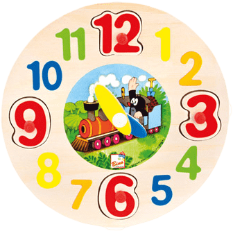 BINO Dřevěné hodiny - Krtek