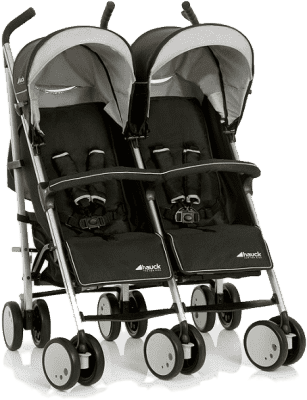 HAUCK Kočárek pro dvojčata a sourozence Turbo Duo H grey 2016