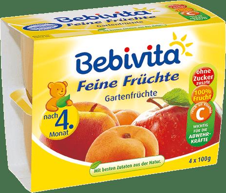 BEBIVITA Jemná ovocná zmes (4x100 g) - ovocný príkrm