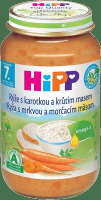 HIPP Ryža s karotkou a morčacím mäsom 220 g - mäsovo-zeleninový príkrm