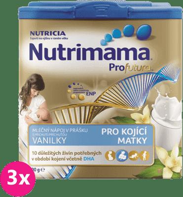 3x NUTRILON NUTRIMAMA ProFutura mléčný nápoj v prášku s vanilkou (400g)