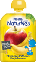 NESTLÉ Naturnes Banán, Jablko (90 g) - ovocná kapsička