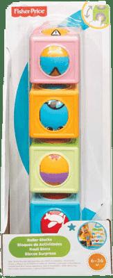 FISHER-PRICE Veselé stavebné kocky s guličkou - chlapec