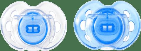 TOMMEE TIPPEE Cumlík CTN silikón Air Style 2ks 0-6m-modré