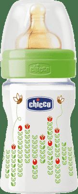CHICCO Láhev Well-Being bez BPA kaučukový dudlík normální průtok 150 ml