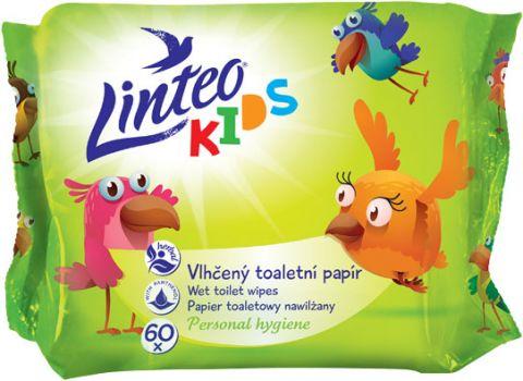 LINTEO Kids Vlhčený toaletní papír 60 ks, sáček