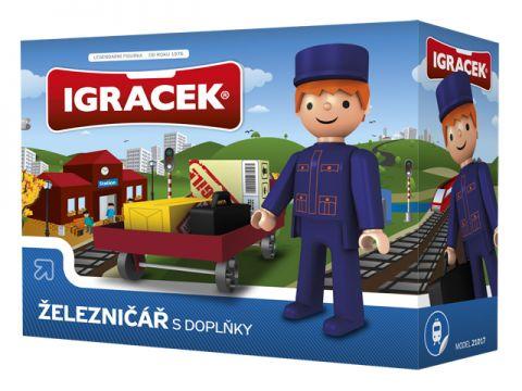 IGRÁČEK Železničář s doplňky