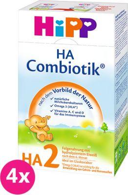 4x HIPP HA 2 Combiotik (500 g) - dojčenské mlieko