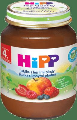 HIPP Jablká s lesnými plodmi (125 g) - ovocný príkrm