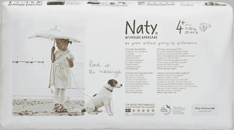 NATY NATURE BABYCARE MAXI+ 4+, 44 ks (9 - 20 kg) ECONOMY PACK - jednorázové plienky