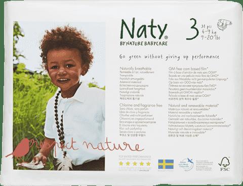 NATY NATURE BABYCARE Midi 4-9 kg (31 ks) - jednorázové plienky