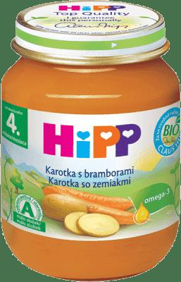 HIPP BIO Karotka so zemiakmi 125 g - zeleninový príkrm