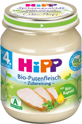 HIPP BIO detský príkrm Morčacie mäso 125g