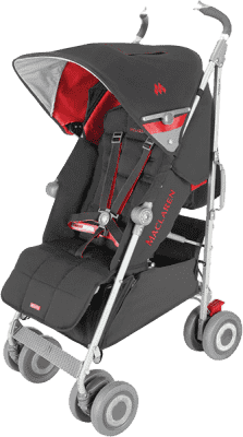 MACLAREN Wózek golfowy Techno XLR, Charcoal/Scarlet 2015