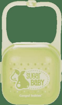 CANPOL Babies Pouzdro na šidítko Fruits/Machines – zelená