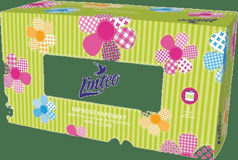 LINTEO Satin Papierové vreckovky Box 200 ks, biele, 2 vrstvové