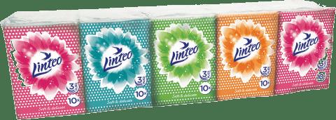 LINTEO Papierové vreckovky Mini 10x10, biele, 3 vrstvové