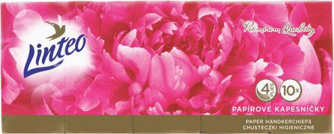 LINTEO Elite Papierové vreckovky 10x10, biele, 4 vrstvové