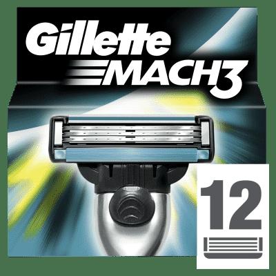 GILLETTE Mach 3 12 ks - náhradní hlavice