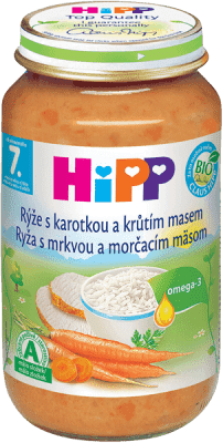 HIPP rýže s karotkou a krůtím masem (220 g) - maso-zeleninový příkrm