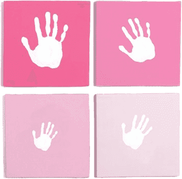 PEARHEAD Ramka na odcisk Nasza Rodzina – różowa