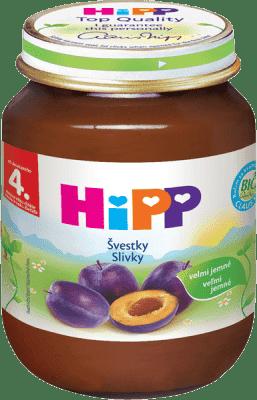 HIPP BIO Slivka (125 g) - ovocný príkrm