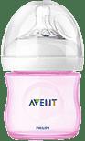 AVENT Dojčenská fľaša 125 ml Natural 0m+, (PP), 1 ks, ružová