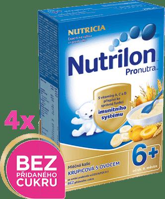 4x NUTRILON ProNutra krupicová s ovocím (225g) - mliečna kaša