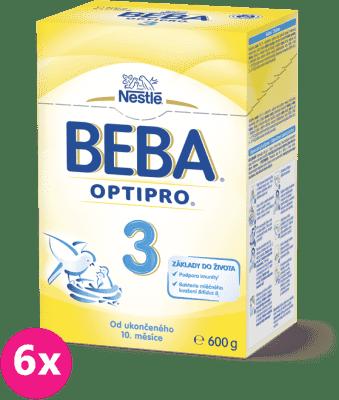 6x NESTLÉ BEBA 3 OPTIPRO (600 g) - dojčenské mlieko