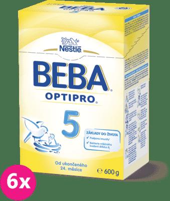 6x NESTLÉ BEBA 5 OPTIPRO (600 g) - dojčenské mlieko