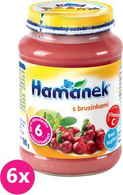 6x HAMÁNEK S brusinkami (190 g) – ovocný příkrm