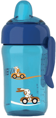 AVENT Magiczny kubek niekapek 340 ml. Niebieski. 18M