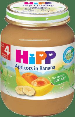 HIPP ovocný príkrm Banány s marhuľami 125g