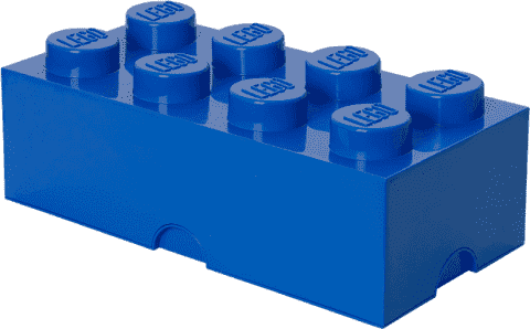 LEGO® Úložný box veľkosť 4 modrá