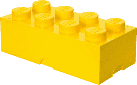 LEGO® Box do przechowywania rozmiar 4 żółty