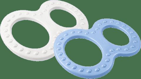 NUK Modré a biele hryzátko (2 ks)