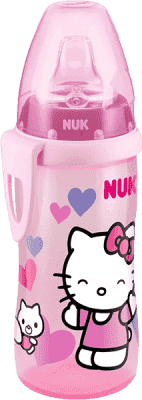 NUK FC Láhev PP Active Cup HELLO KITTY, Silikon, pítko 300 ml