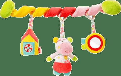 NUK Pool Party Zabawka spirala – hipopotam