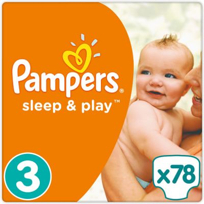 PAMPERS Sleep&Play 3 MIDI 78ks (4-9kg) JUMBO PACK - jednorázové pleny